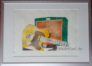 Holzdruck Gitarre